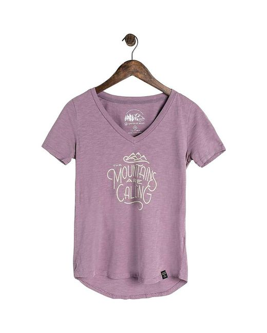 United By Blue - Purple Mountains Calling Ss Tee - Lyst