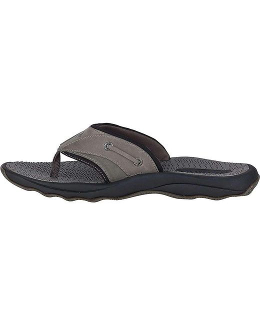 6b499bb79e8 ... Sperry Top-Sider - Black Outer Banks Thong Sandal for Men - Lyst ...