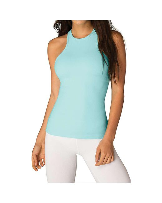 Beyond Yoga - Blue Under Lock And Keyhole Tank Top - Lyst