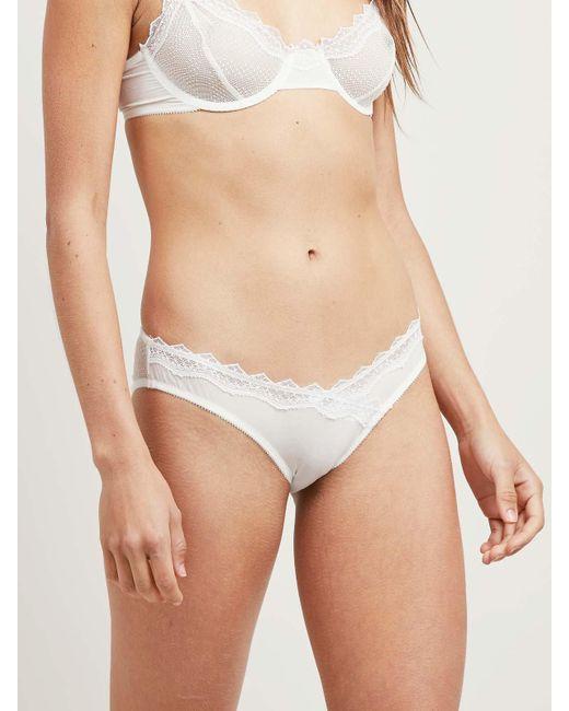 Morgan Lane | White Lauren Panty In Chalk Petunia | Lyst