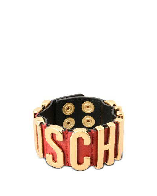Moschino - Red Bracelet - Lyst