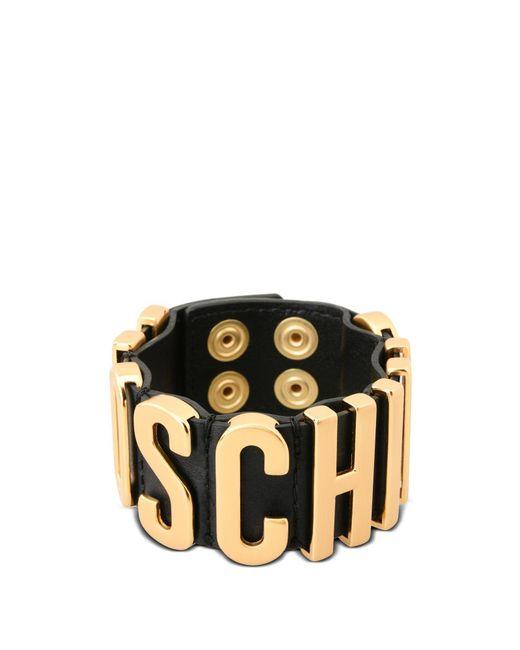 Moschino   Black Bracelet   Lyst