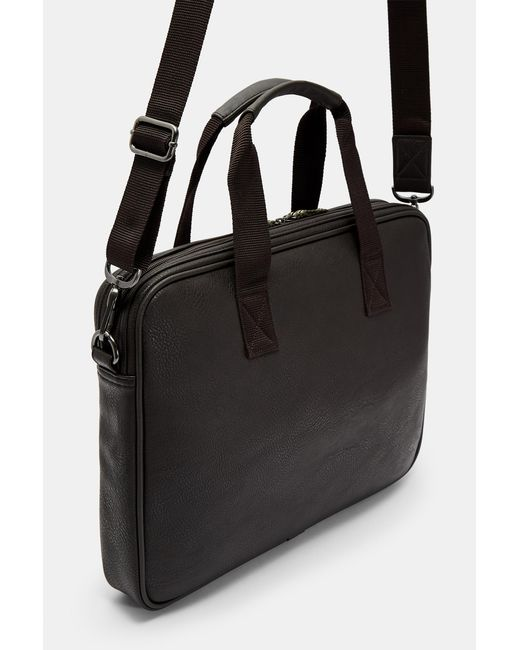 925fcf16b55 ... Ted Baker - Brown Tinee Chocolate Webbing Document Bag for Men - Lyst  ...