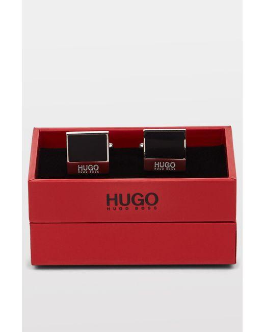 HUGO   Hugo Boss Square Link Black   Lyst