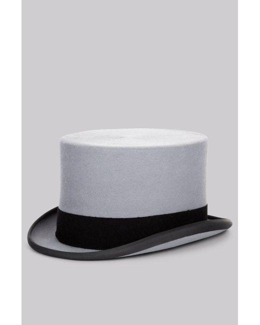 Moss Bros - Gray . Grey Ascot Top Hat for Men - Lyst