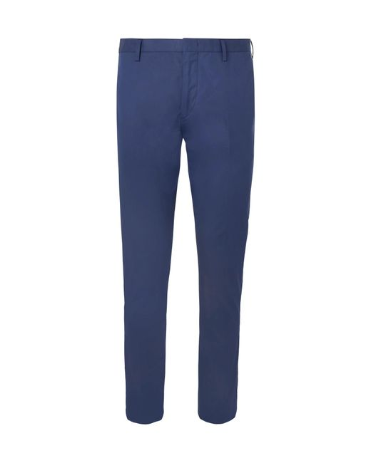 Paul Smith - Royal-blue Soho Slim-fit Cotton Trousers for Men - Lyst