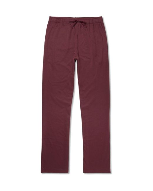 Sunspel | Red Cotton And Modal-blend Jersey Pyjama Trousers for Men | Lyst