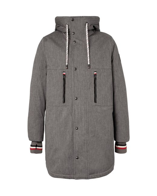 Moncler Gamme Bleu | Gray Faux Shearling-lined Cotton-blend Twill Down Coat for Men | Lyst