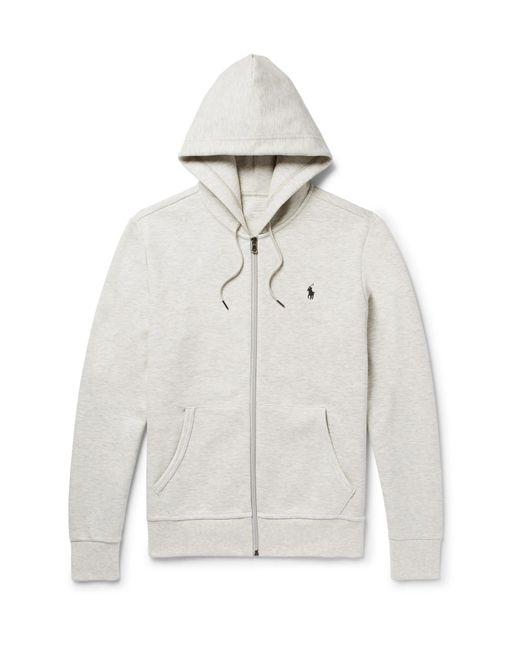 Polo Ralph Lauren | Gray Mélange Tech-jersey Hoodie for Men | Lyst