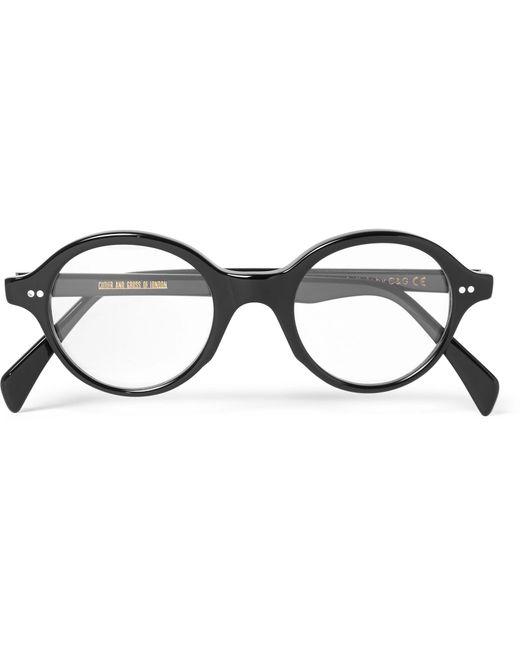 Cutler & Gross - Black Round-frame Acetate Optical Glasses for Men - Lyst