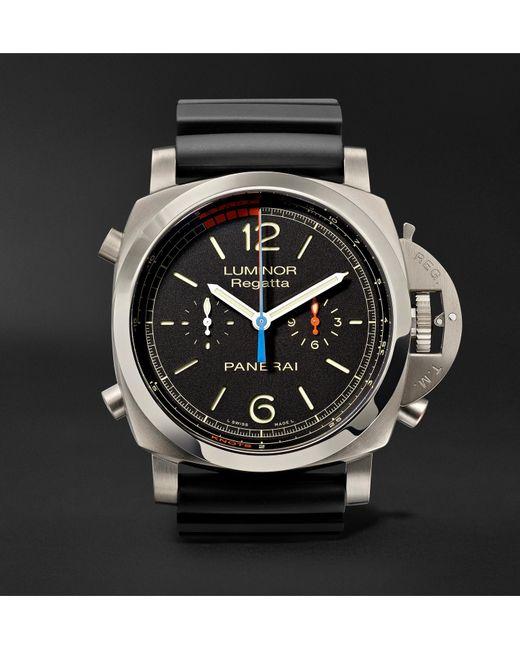 Officine Panerai - Black Luminor 1950 Regatta 3 Days Chrono Flyback Automatic Titanio 47mm Titanium And Rubber Watch for Men - Lyst