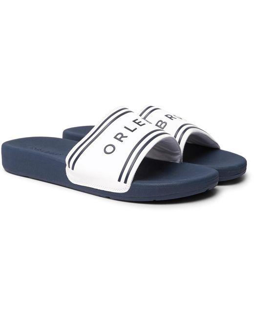 Orlebar Brown - Blue Haddon Logo-detailed Rubber Slides for Men - Lyst