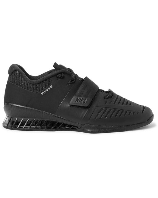 Nike - Black Romaleos 3 Faux Leather-trimmed Mesh Sneakers for Men - Lyst