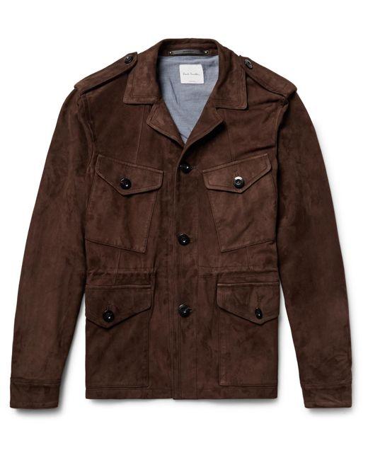 Paul Smith | Brown Slim-fit Suede Field Jacket for Men | Lyst