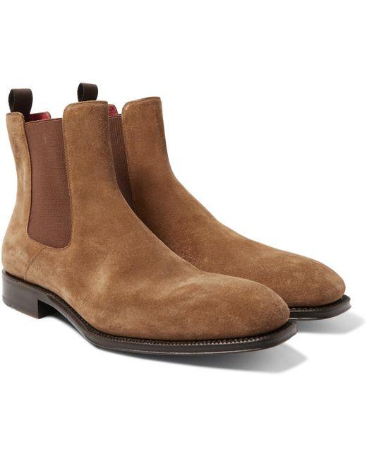 Alexander McQueen | Brown Suede Chelsea Boots for Men | Lyst