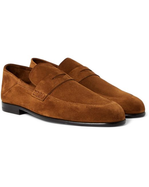 Harry's Of London | Brown Edward Collapsible-heel Suede Loafers for Men | Lyst