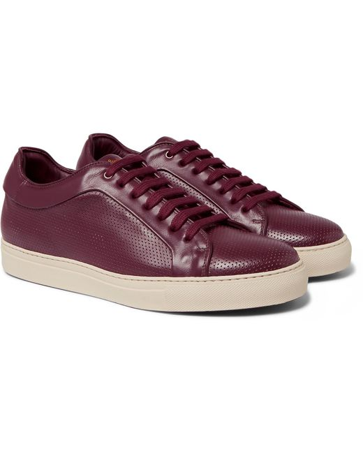 Paul Smith | Purple Basso Perforated Leather Sneakers for Men | Lyst