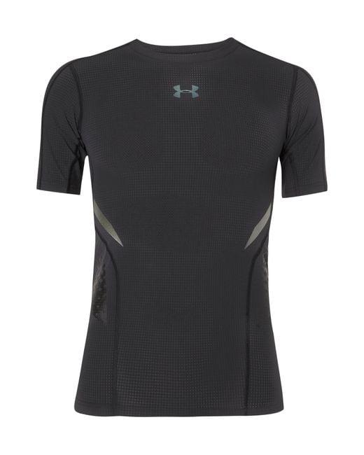 Under Armour - Black Heatgear Zonal Stretch-jersey T-shirt for Men - Lyst