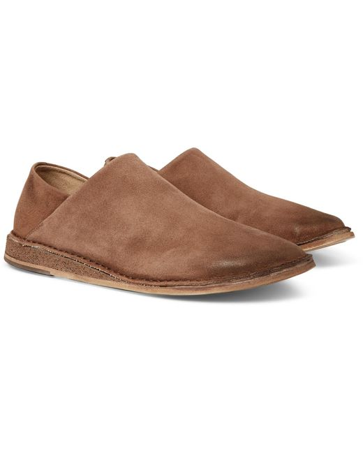 35433a00b37 Lyst - Marsèll Stag Collapsible-heel Suede Loafers in Brown for Men