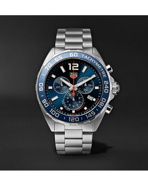 ff7c05e74 Tag Heuer - Blue Formula 1 Chronograph Quartz 43mm Stainless Steel Watch  for Men - Lyst