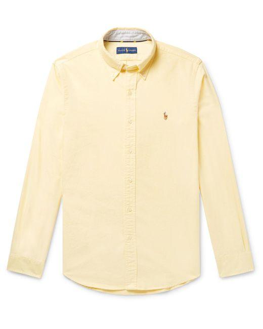 Polo Ralph Lauren - Yellow Slim-fit Button-down Collar Cotton Oxford Shirt for Men - Lyst