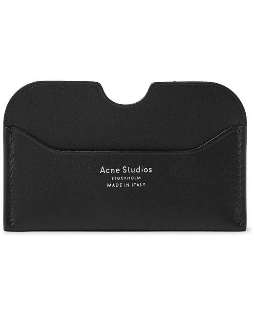 Acne - Black Elmas S Leather Cardholder for Men - Lyst