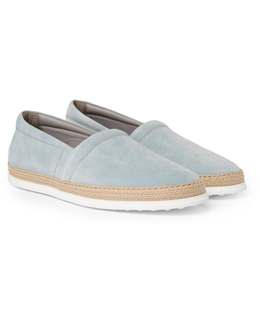 Tod's - Gray Suede Espadrilles for Men - Lyst