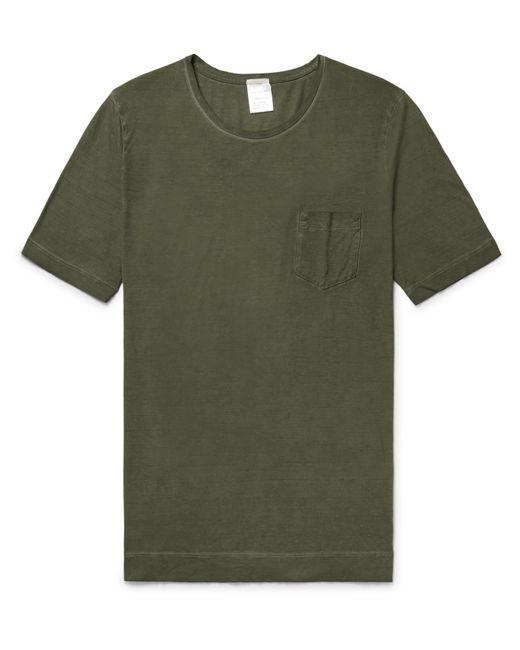 Massimo Alba | Green Panarea Garment-dyed Cotton-jersey T-shirt for Men | Lyst