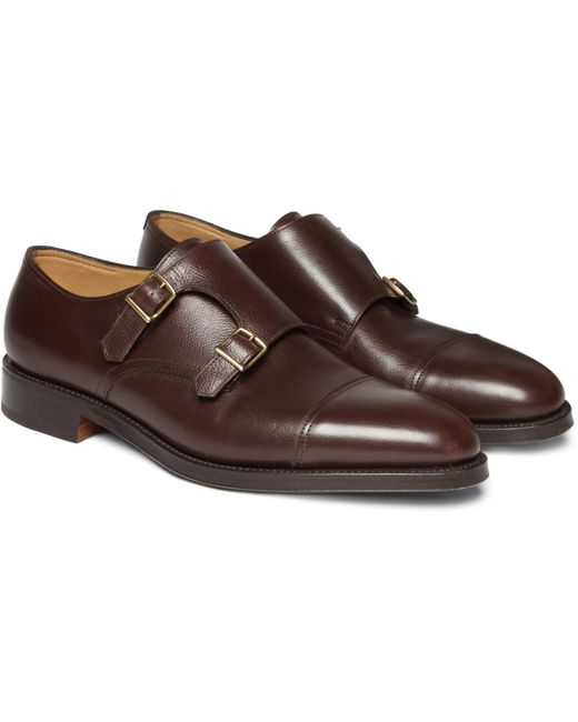 John Lobb | Brown William Leather Monk-strap Shoes for Men | Lyst