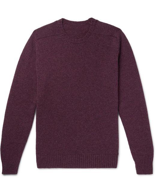 Anderson & Sheppard - Purple Shetland Wool Sweater for Men - Lyst