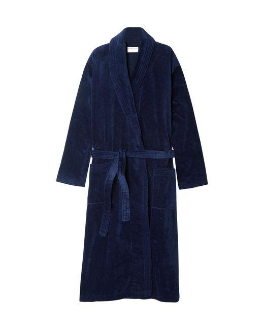 Derek Rose - Blue Cotton-terry Robe for Men - Lyst ... c81f06cdd