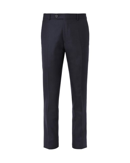 Mr P. - Blue Navy Worsted Wool Trousers for Men - Lyst