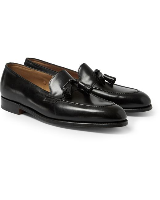 John Lobb | Black Truro Leather Tasselled Loafers for Men | Lyst