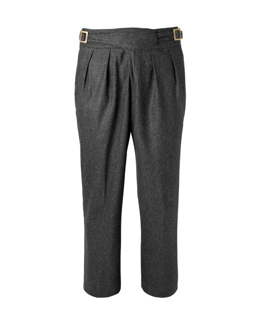Rubinacci - Gray Manny Tapered Pleated Mélange Stretch-wool And Cashmere-blend Trousers for Men - Lyst