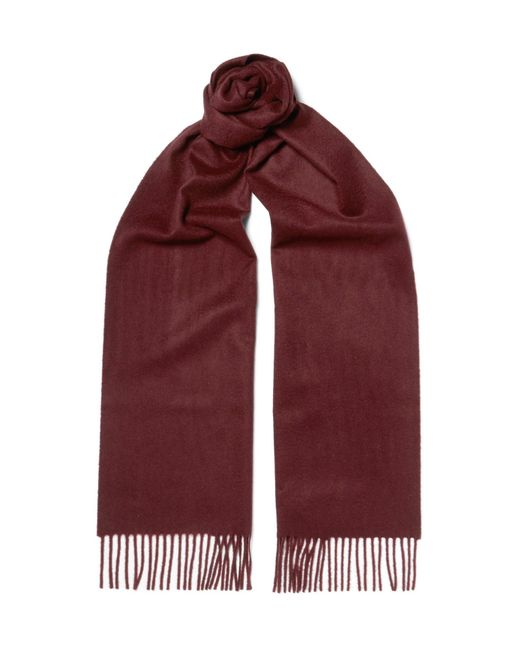 Johnstons   Red Cashmere Scarf for Men   Lyst