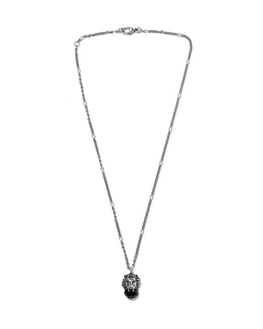 Gucci - Metallic Burnished Silver-tone Swarovski Crystal Necklace for Men - Lyst