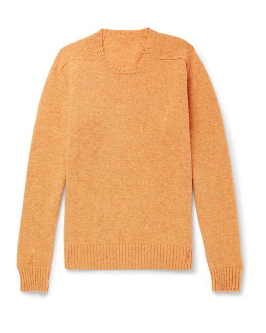 Anderson & Sheppard - Orange Mélange Shetland Wool Sweater for Men - Lyst