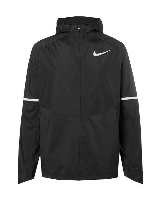Nike Aeroshield Gloves: Nike Aeroshield Zonal Shell Jacket In Black For Men
