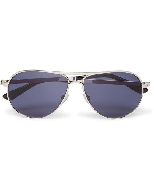 bd12938df2c Tom Ford - Metallic Marko Aviator-style Silver-tone Sunglasses for Men -  Lyst ...