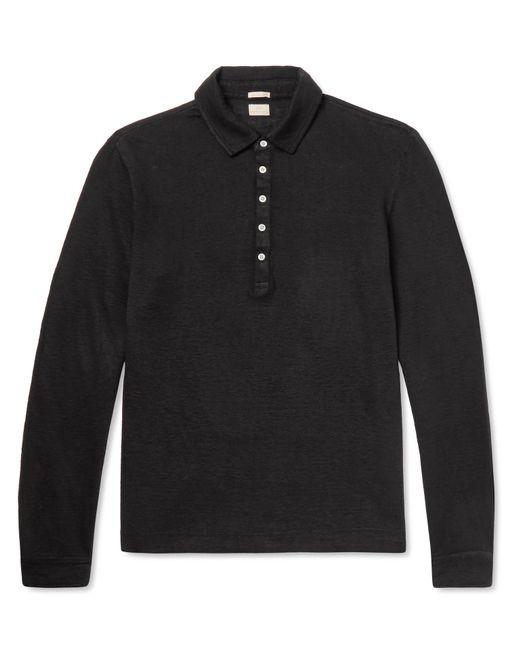 Massimo Alba - Black Linen Polo Shirt for Men - Lyst