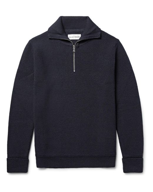 SALLE PRIVÉE | Blue Rikard Virgin Wool Half-zip Sweater for Men | Lyst