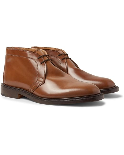 Tricker's - Brown Polo Leather Chukka Boots for Men - Lyst
