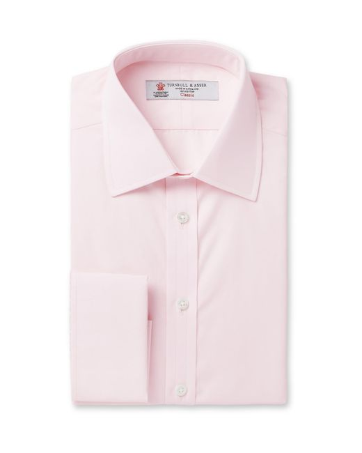 Turnbull & Asser | Pink Double-cuff Cotton Shirt for Men | Lyst