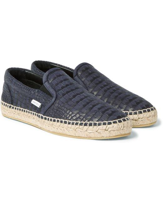 Jimmy Choo | Blue Vlad Croc-effect Leather Espadrilles for Men | Lyst