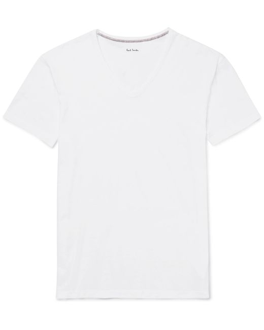 Paul Smith | White Cotton-jersey T-shirt for Men | Lyst