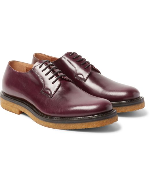 Dries Van Noten Womens Leather Derby Shoes