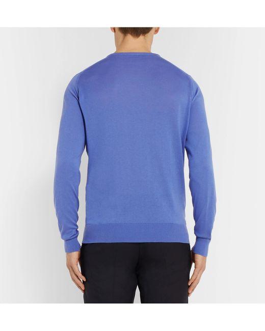 John Blend Sea Theon Cotton And Fit Island Sweater Slim Smedley Cashmere Purple rXqvrA