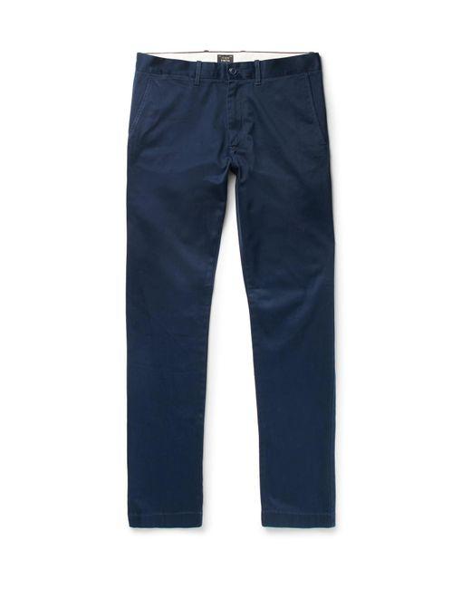 J.Crew   Blue 484 Slim-fit Stretch-cotton Twill Chinos for Men   Lyst