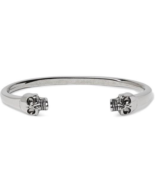 Alexander McQueen - Metallic Skull Silver-tone Cuff for Men - Lyst