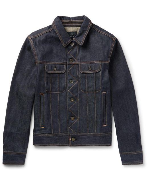 Rag & Bone - Blue Selvedge Denim Jacket for Men - Lyst